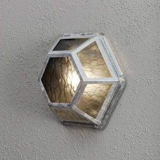 Konstsmide 533-320 Castor Aussen-Wand- & Deckenleuchte galvanisierter Stahl rauchfarbenes Acrylglas