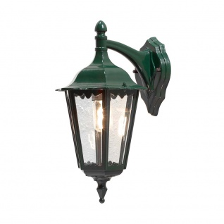 Konstsmide 7212-600 Firenze Aussen-Wandleuchte Grün klares Glas