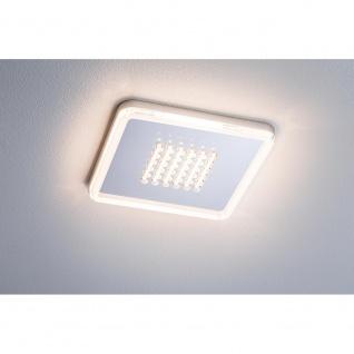 Paulmann Einbaupanel Premium Line 10W LED Alu-Gebürstet Warmweiß eckig 92791