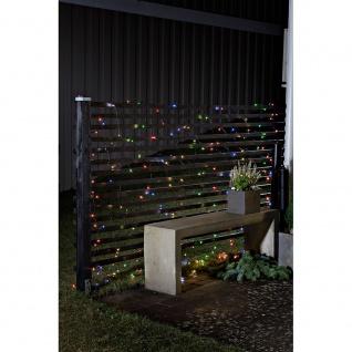 LED Lichternetz mit Lichtsensor Timer 80 bunte Dioden batteriebetrieben für Aussen