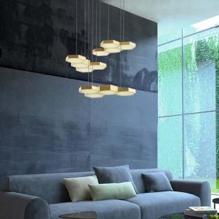 Nova Luce Pettine Design LED Hängelampe 60W 3000K Satin-Gold
