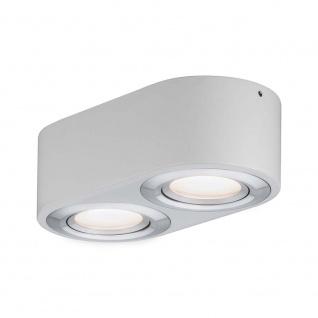 Paulmann Wandleuchte Argun LED 2x4, 8W Weiß Alu-Gebürstet 79709