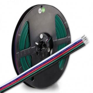 RGBW Verbindungskabel 5-polig 5 x 0, 33mm² 1 Rolle = 10m 112940