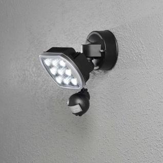 Konstsmide 7692-000 Prato LED Außenstrahler mit Bewegungsmelder Schwarz
