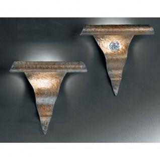 Kögl 80114 Onda Wandleuchte mit Kristallglaskugel mit Facettenschliff 27cm
