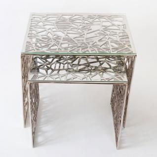 Holländer 208 2501 Tischset Lucido Aluminium-Glas Silber