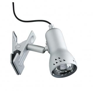 Paulmann Assistent Gryps Klemmspot max. 1x40W E14 Eisen gebürstet 230V Metall/Kunststoff