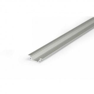 Einbauprofil schmal 200cm Alu-eloxiert ohne Abdeckung für LED-Strips