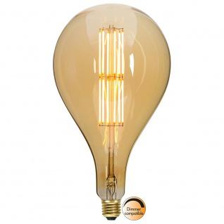 E27 Vintage LED 16cm Tropfen Dimmbar 650lm Extra Warmweiß