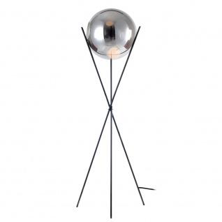 s.LUCE Stehleuchte Sphere 40 mit rauchiger Glaskugel // B-Ware