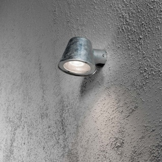 Konstsmide 7523-320 Trieste Aussen-Wandleuchte galvanisierter Stahl klares Acrylglas Reflektor