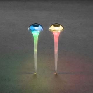 2er-Set RGBW LED Solarleuchten Assisi Solar Gartenlampe Gartenleuchte - Vorschau 3