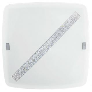 Eglo 31449 Osseja LED Deckenleuchte mit Kristalldekor 1850lm Weiß Klar
