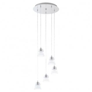 Eglo 94357 Pancento LED Hängeleuchte 5 x 45 W Stahl Chrom Kunststoff klar satiniert