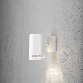 Konstsmide 7511-250 Modena Aussen-Wandleuchte Weiß klares Acrylglas Reflektor