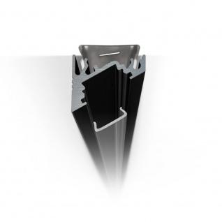 2m Eck-Aluprofil-Erweiterungsset für LED-Strips Abdeckung matt Alu Schwarz eloxiert - Vorschau 4