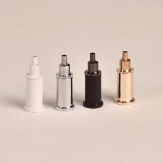 Stahlseilhalter für Hängeleuchten Gold Schnellspanner Drahtseilabhängung Stahlseilabhänger - Vorschau 2