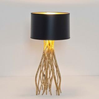 Holländer 280 K 1201 Tischleuchte Capri Mittel Metall Gold-Schwarz