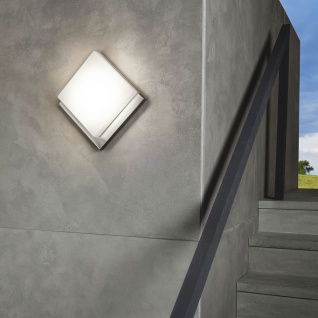 Eglo 94877 LED Edelstahl Aussen-Wandleuchte Infesto 1 820lm Silber