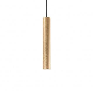 Ideal Lux 141817 Look Pendelleuchte Zylinder Ø 6cm echtes Blattgold