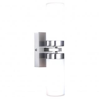 Globo 7816 Space Wandleuchte Nickel-Matt Glas opal satiniert 2x40W E14