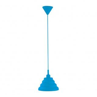LeuchtenDirekt 15105-56 Silikon Pendelleuchte E27 60W Blau