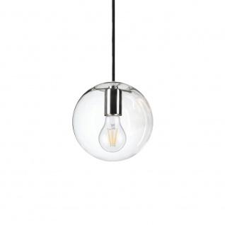 s.LUCE Orb 20 Galerieleuchte 5m Kabel Glaskugel Klar Chrom Galerielampe