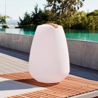 Akku LED-Dekolampe Vessel 2 mit Holzgriff & App-Steuerung