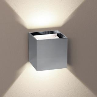 s.LUCE Ixa LED Wandleuchte mit zwei verstellbaren Winkel Aussen-Wandlampe Chrom