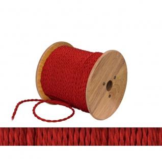 Textilkabel rot twisted 2 x 0, 75mm 1 Meter Zubehör - Vorschau 2