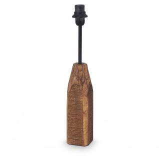 1+1 Vintage Tischleuchte 1-flammig Holz Stahl natur Tischlampe