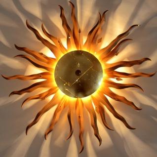 s.LUCE Diator XL handgeschmiedete Sonne Ø 70cm rost & gold Deckenlampe - Vorschau 2
