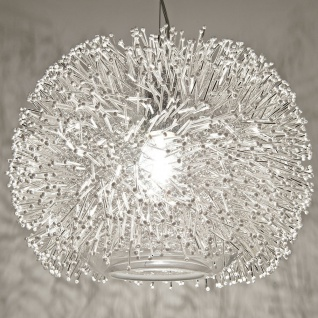 Terzani Sea Urchin Hängeleuchte Nickel Silber Swarovski Hängelampe