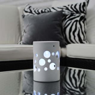 Solar LED Keramik Leuchte Genova Weiß Solar Gartenlampe Gartenleuchte