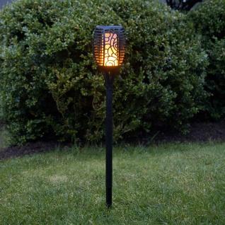 Premium LED Solar Gartenfackel imitiert Feuer 79cm Solar Gartenlampe Gartenleuchte