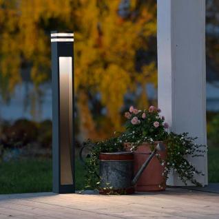 Konstsmide 7945-370 Massa LED Wegeleuchte Anthrazit klares Acrylglas