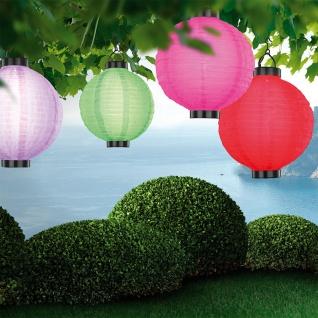 LED Lampion Hänge-Solarleuchte Ø 25cm Solar Gartenlampe Gartenleuchte - Vorschau 2