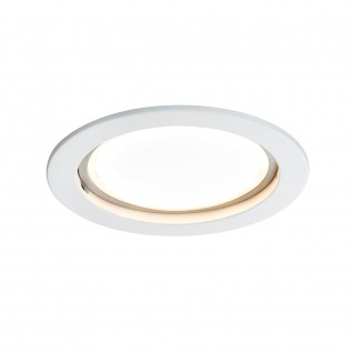 Paulmann Premium EBL Set Coin sat rund starr LED 1x14W 2700K 230V 75mm Weiß matt/Alu Zink