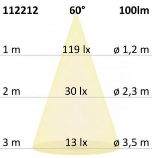 LED Wandeinbauleuchte eckig 3W Edelstahl Warmweiß IP65 - Vorschau 4