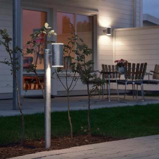 Konstsmide 591-320 Ull LED Wegeleuchte 2x 700lm 3000K galvanisierter Stahl Polycarbonat Glas