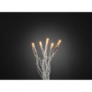 Micro LED Lichterkette verschweißt 20 bernsteinfarbene Dioden 24V Innentrafo
