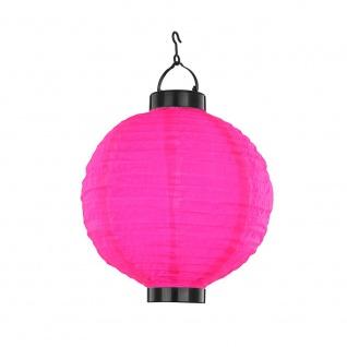 LED Garten Solarleuchte Lampion ?25cm pink Solar Gartenlampe Gartenleuchte