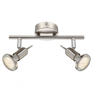 Globo 54382-2 Rail LED-Strahler Nickel-Matt 2xGU10 LED