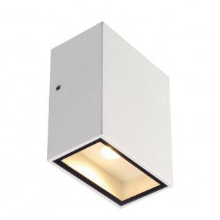 SLV QUAD 1 XL Wandleuchte eckig Weiß LED 1x3, 2W 3000K 232431