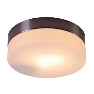 Globo 48401 Opal Deckenleuchte Nickel-Matt Glas opal 60W E27