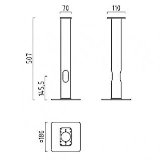 Helestra LED Erdstück Zubehör Accessories verzinkt