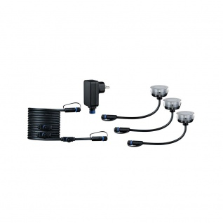 Paulmann LED Plug & Shine Floor Eco Basisset IP65 24V 3000K 3x1W 93692