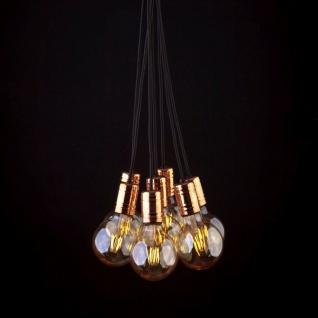 Licht-Trend Socket Pendelleuchte 7-flammig E27 Kupfer-Schwarz Hängeleuchte