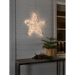 LED Acryl Stern mit 8 Funktionen 48 Warmweiße Dioden 24V Außentrafo