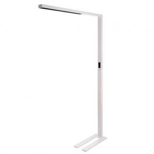 LED Büro Stehlampe Motion 9600lm Präsenzmelder & Tageslichtsensor Weiß-Matt